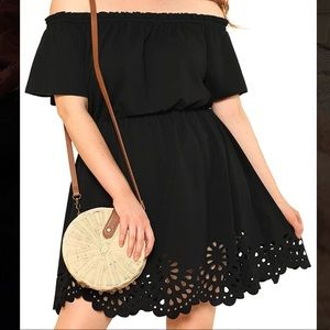 Cutout off the shoulder dress